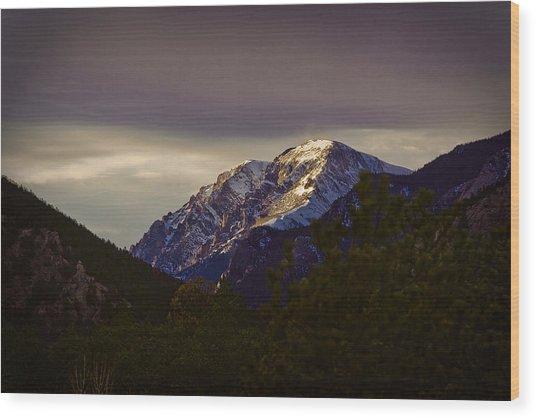 Mt. Chapin Wood Print