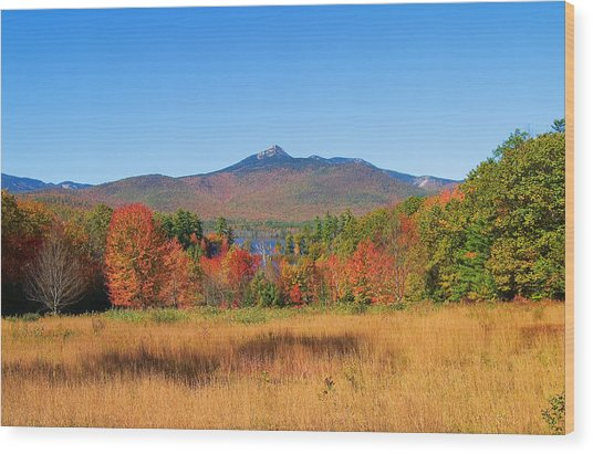Mt. Chocorua Autumn 2 Horizontal Wood Print