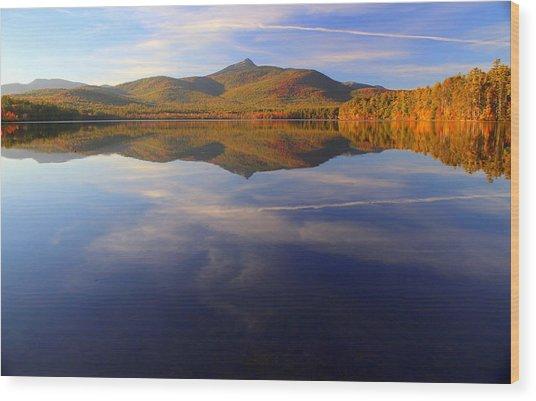 Mt. Chocorua In Blue Wood Print
