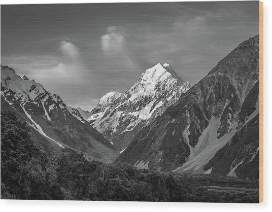 Mt Cook Wilderness Wood Print