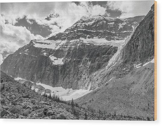 Mt. Edith Cavell Wood Print