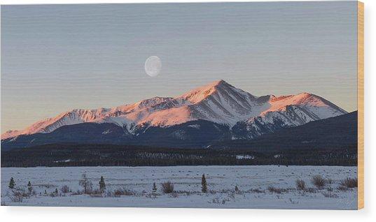 Mt. Elbert Sunrise Wood Print