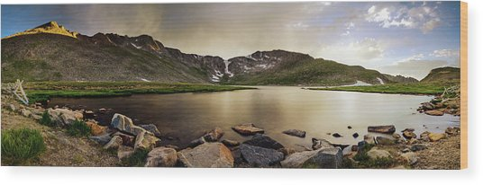 Mt. Evans Summit Lake Wood Print