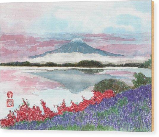 Mt. Fuji Morning Wood Print