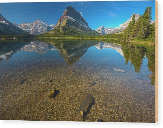 Mt. Grinnell Wood Print