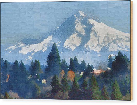 Mt. Hood  Wood Print by Margaret Hood
