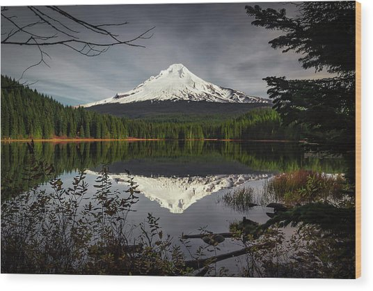 Mt Hood Reflection Wood Print