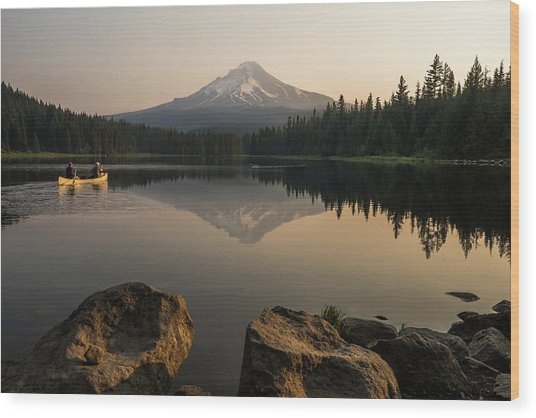 Mt Hood Sunrise  Wood Print
