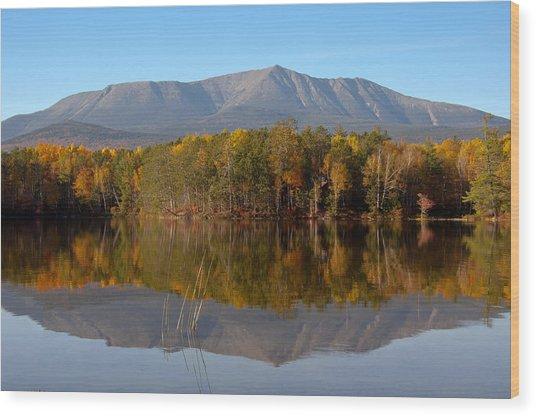 Mt Katahdin Baxter State Park Fall 1 Wood Print