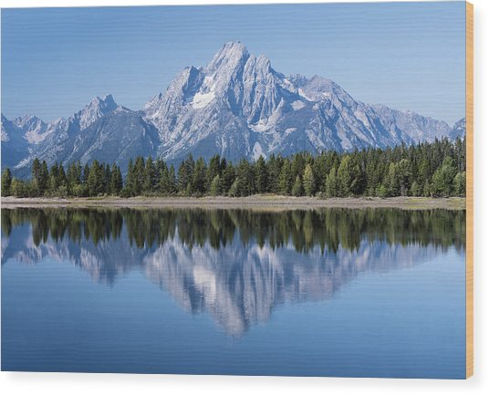 Mt. Moran Grand Tetons Wood Print