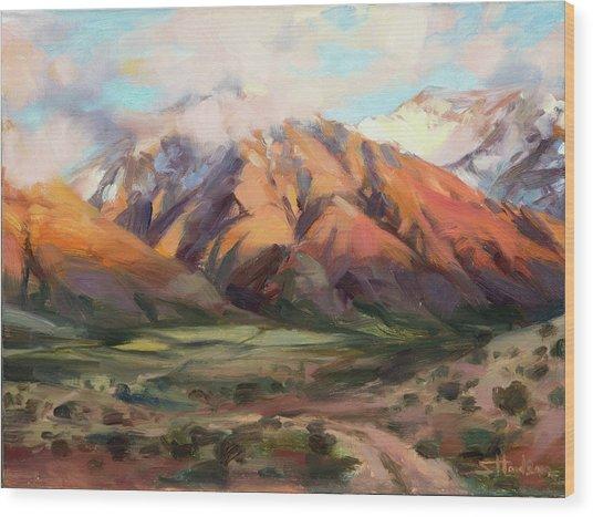 Mt Nebo Range Wood Print