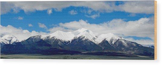Mt. Princeton Colorado Wood Print