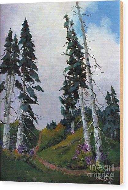Mt. Rainier 3 Wood Print