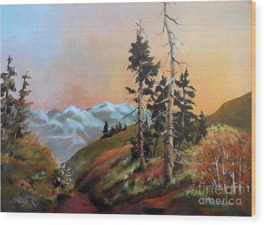Mt. Rainier 6 Wood Print