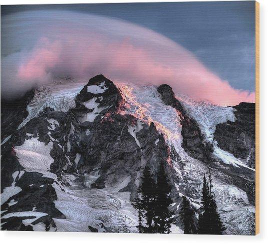 Mt Rainier Sunrise Fine Art Photograph Wood Print