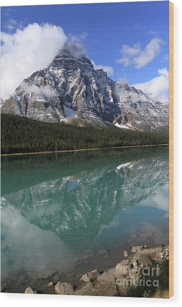 Mt Refection Wood Print