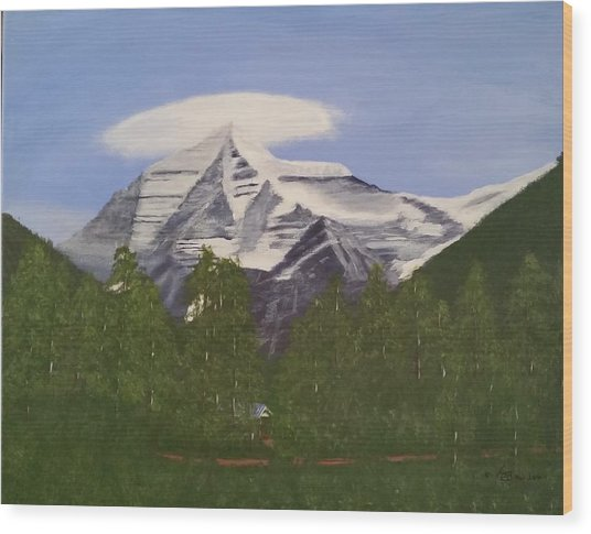 Mt. Robson, Bc Wood Print