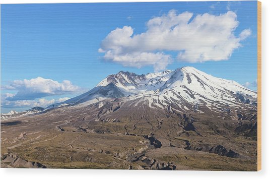 Mt Saint Helens Wood Print