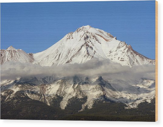 Mt. Shasta Summit Wood Print
