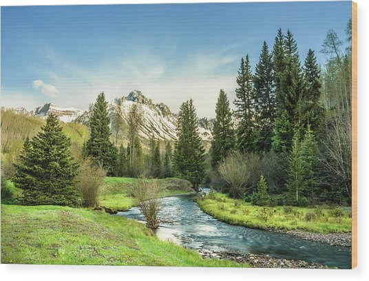 Mt. Sneffels Peak Wood Print