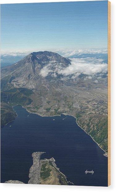 Mt. St. Helens Aerial 2225 Wood Print by David Mosby