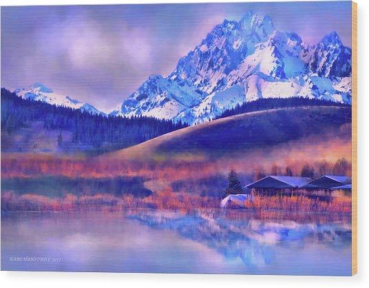 Mt. Stuart Wood Print