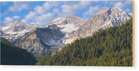 Mt. Timpanogos In The Wasatch Mountains Of Utah Wood Print