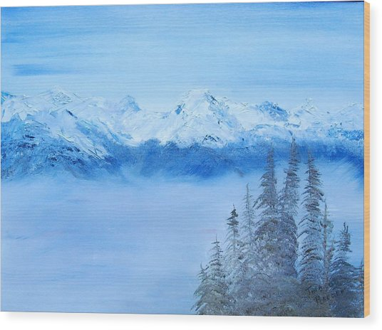 Mt. Whistler Canada  Wood Print by Tina Haeger