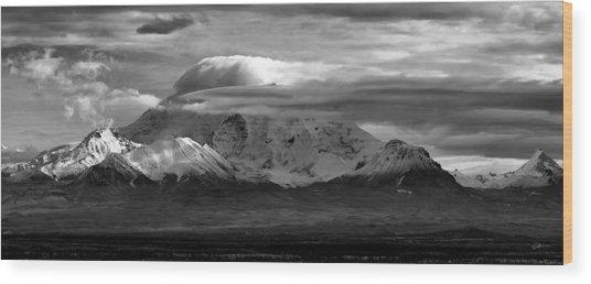 Mt Drum Wood Print