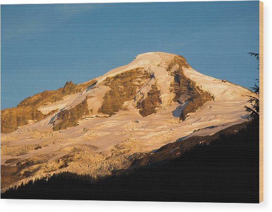 Mt.baker At Sunset  Wood Print