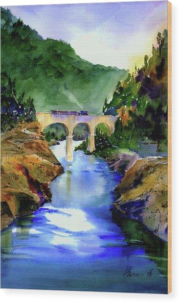 Mtn Quarries Rr Bridge Wood Print