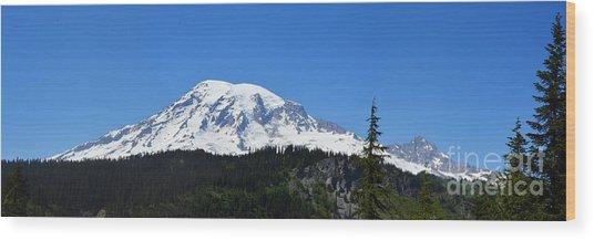 Mt.rainier Wood Print