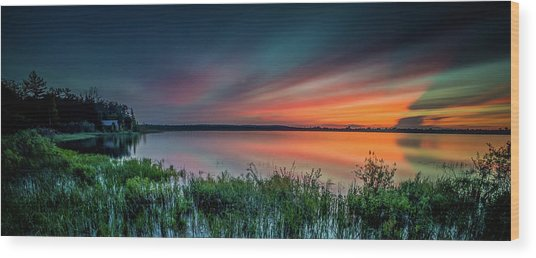 Mud Bay Sunset 4 Wood Print
