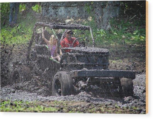 Mud Bogging Wood Print