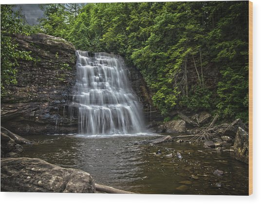 Muddy Creek Falls Wood Print