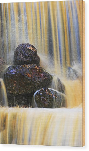 Muddy Water-st Lucia Wood Print