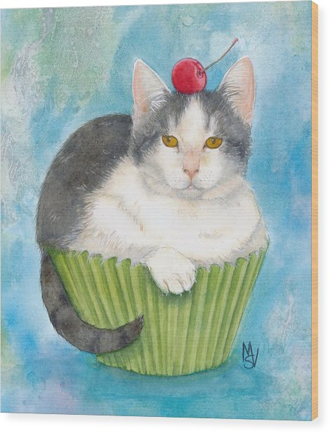 Muffin Of Animal Rescue And Foster Wood Print