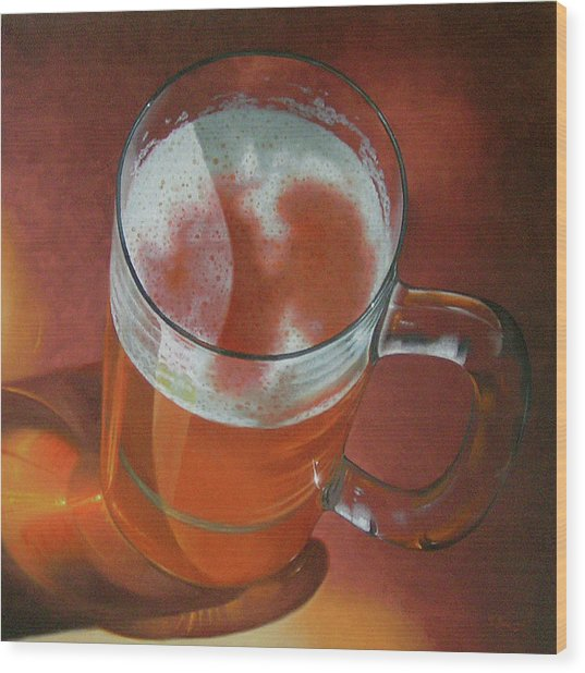 Mug Of Beer Wood Print