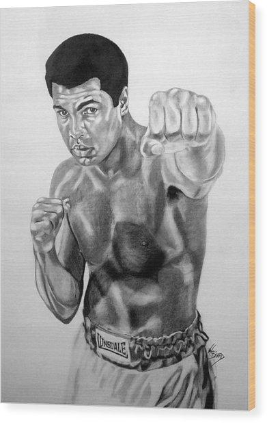 Muhammad Ali Wood Print by Van Beard