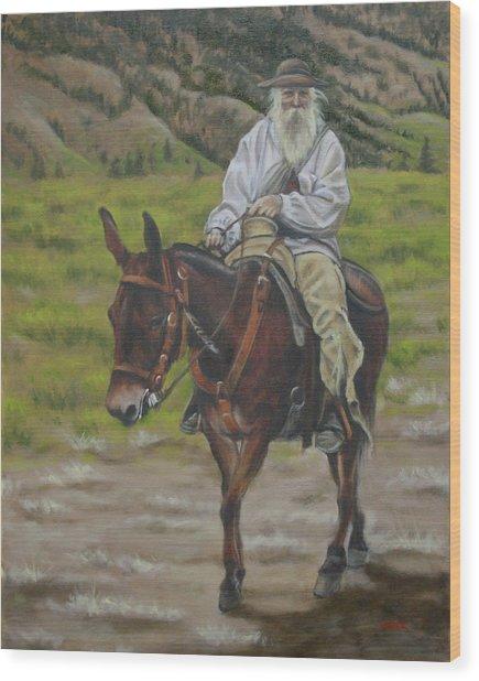 Mule Walk Wood Print