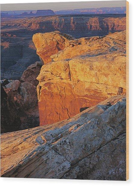 Muley Point Sunrise-v Wood Print