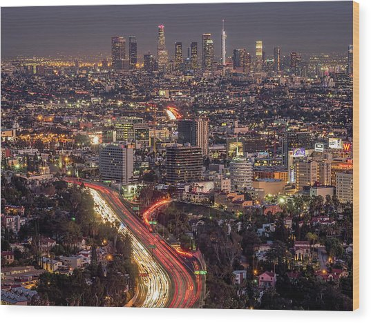 Mulholland Drive View #2 Wood Print