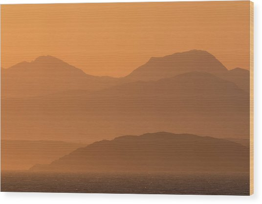 Wood Print featuring the photograph Mull Sunrise by Karen Van Der Zijden