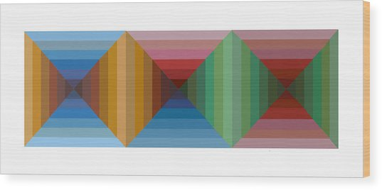 Multi-color Graphic Horizontal Maze Wood Print by Beverly Trivane