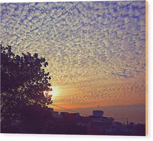 Multicoloured Sky Wood Print