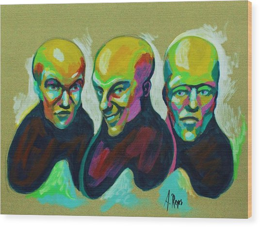 Multiple Personality Wood Print