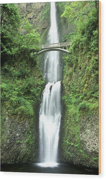 Multnoma Falls Wood Print