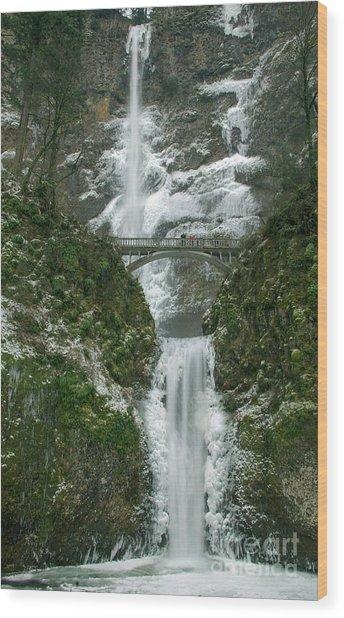 Multnomah Falls Ice Wood Print