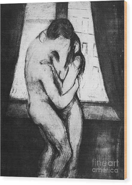 Munch The Kiss, 1895 - To License For Professional Use Visit Granger.com Wood Print