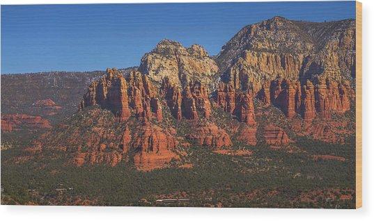 Munds Mountain Panorama Wood Print